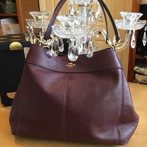 Coach Lexy Raspberry Pebble Leather Bag new